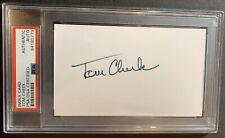 VARY RARE Tom Cheek HOF 2013 Dec.05 PSA Signed Index Card Broadcaster Blue Jays