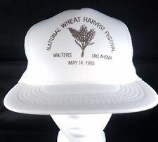 Wheat Harvest Snapback Trucker Hat National Festival 1988 OK Farmer OSFA Vtg