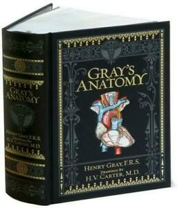 ❤️Gray's Anatomy by Henry Gray Bonded Leather Shrink Wrapped Collectible Edition