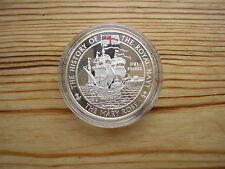 2003 .925 silver proof crown Alderney £5 Five pounds Mary Rose Navy Elizabeth II