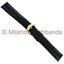 13mm Hirsch Arizona Black Genuine Calfskin Leather Padded Ladies Watch Band Reg