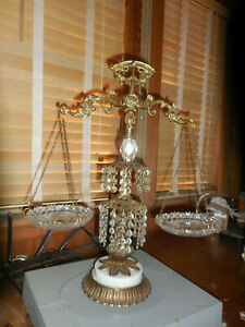 L&L WMC 1971Scales Of Justice Vintage Lead Crystal