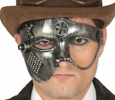 Adults Gothic Victorian Steampunk Mask Chain Masquerade Fancy Dress Accessory