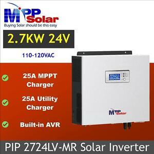 MPP Solar Inverter 2700w 24v 110v 120V 25A MPPT solar charger built-in  AVR