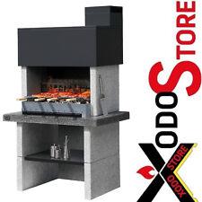 Barbecue in muratura a legna carbonella SUNDAY modello TORONTO CRYSTAL - BBQ