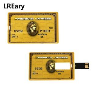 American Express Bank Gold Credit Card 32GB USB 2.0 Flash Drive Memory Stick