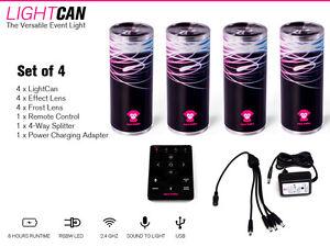 ape labs LED Light Can 4er Set KOMPLETTE LICHTANLAGE 15W RGBW Lightcan Set of 4