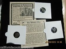 "10 -ANCIENT ROMAN LEPTON ""WIDOW'S MITE"" as IN THE BIBLE - Mini Album with COA"