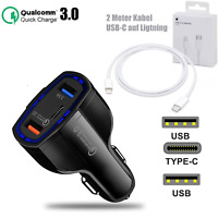 Autoladegerät KFZ 3 Fach USB-C USB Schnell Ladung Für iPhone 12 11 Pro Max Mini