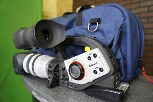 NICE Canon XL2 3CCD Mini DV Camcorder Video Camera W/ Mic & Porta Brace Bag