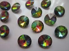 8 x vetro sottolineato RETRO STRASS castoni CONO Crystal 14 mm della gioielleria.