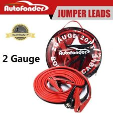 2 Gauge Jumper Booster Cables 800Amp 20ft Emergency Car Battery Jump Heavy Duty