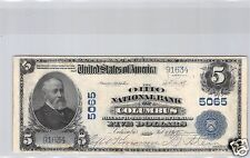 USA NATIONAL CURRENCY $5 DOLLARS 1902 COLUMBUS !!!
