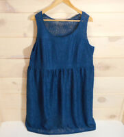 Lane Bryant Sleeveless Cocktail Dress Sz 18 Lace Overlay Cerulean Blue Evening