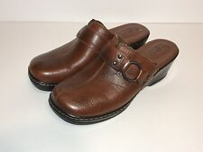 Born Clogs Womens Size 8 Brown Leather Slip On Shoes Mules