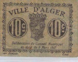 Algérie 10 Centimes 9 Mars 1917 Pirot 7