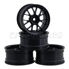 4x Wheel Rims Black for 1:10 RC Racing Car 26mm On Road 7Y spoke & Drift Car