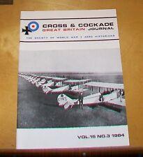 CROSS & COCKADE GREAT BRITAIN JOURNAL VOL 15 No 3 1984  RFC/RAF (CANADA) AIRSHIP