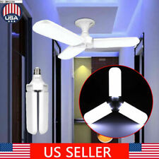 E27 45W Foldable Fan 4 Blade Light Angle Adjustable Bulb Bright LED Ceiling Lamp