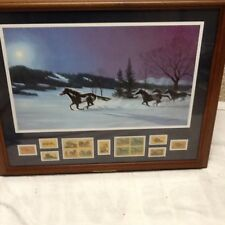 Bob Peters Moonlight Madness PROFESSIONALY Framed with Horse Stamps