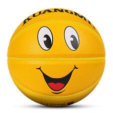 Kuangmi basketball Yellow smiley face basketball Kids ball Size 5 27.5