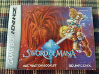 Sword of Mana - Authentic - Nintendo Game Boy Advance - Manual Only!