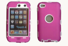 Best Protection Case / Cover for iPOD TOUCH 4 HOT PINK / WHITE Free Stylus!!!