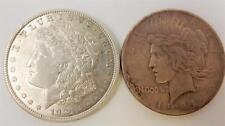 1921 Morgan & RARE 1921 PEACE Silver Dollar, Coin Set,  #B76
