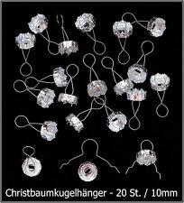 -NEU- Christbaumkugelhänger 10mm, Silberfarben, 20 Stück