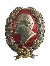 Vladimir Lenin USSR Soviet Russian Large Brass Enamel Order Medal Pin Badge