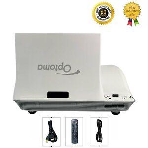 Optoma W307UST DLP Projector 3500 ANSI Ultra Short Throw Full HD 3D HDMI bundle