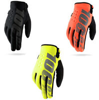 100% Mens Motocross Motorcycle Dirt Bike Textile Brisker Hook Loop Gloves AU