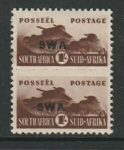 South West Africa 1942 1/- with Upper background missing CW33d Mint.
