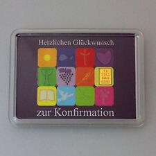 1 Gramm Gold 999,9 + Zertifikat ► 1g Feingoldbarren ► Geschenk Konfirmation