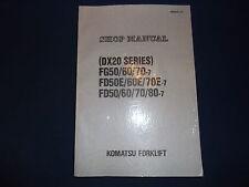 KOMATSU FG50/60/70-7 FD50E/60E/70E-7 FORKLIFT SERVICE SHOP REPAIR MANUAL BOOK