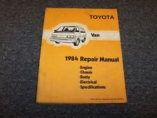 1984 Toyota Van Shop Service Repair Manual Book LE Deluxe Cargo Passenger 2.0L