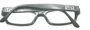 Versace Black Rectangle Eyeglasses 52-17 140 PARTS