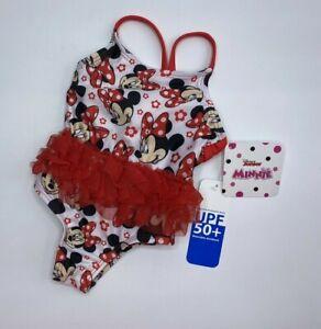 Girls Size 3-6M Disney Minnie Mouse 1-Piece Swimsuit UPF 50+ New
