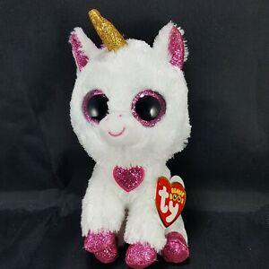 "Ty Beanie Boo CHERIE the Valentine Unicorn Store Exclusive 6"" plush stuffed NEW"