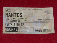 [COLLECTION SPORT FOOTBALL] TICKET PSG / NANTES 5 FEVRIER 2000 Champ.France