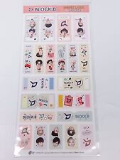 Block B Index Label Sticker KPOP Character Name Note Stickers JaeHyo UKwon TaeIl
