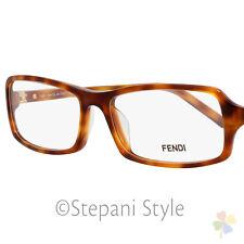 Fendi Rectangular Eyeglasses F866 214 Size: 54mm Light Havana 866