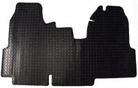 Ford Transit MK7 Van 2006-2013 Tailored Black 3mm Penny Rubber Van Floor Mat