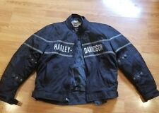Mens XXL fits XL Harley Davidson jacket riding/racing  Black poly not leather