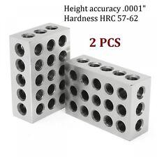 2 Pcs 25x50x75mm Blocks 23 Holes Clamping Block Precision Milling Machinist Tool