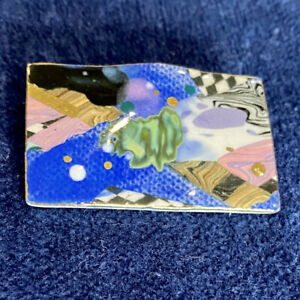 Cynthia Chuang Artisan Porcelain Handpainted Brooch Pin Critters Jewelry 10