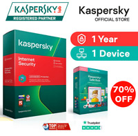 Kaspersky Internet Security License Key | 1 Year | 1 Device | Global Activation