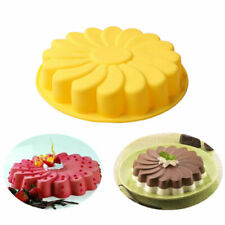 Silicone Large 3D Flower Cake Mould Chocolate Soap Candy Jelly Mold Pan OiRrE