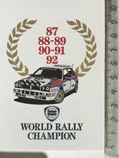 Sticker / Aufkleber, Lancia Integrale + Rally Champion Lorbeerkranz 87-92