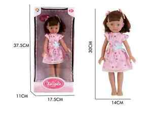 """13"""" Doll Movable Legs and Arms Brown Hair Doll Baby Doll Pretend Play Doll UK"""